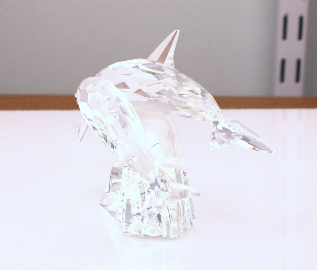 Swarovski Dolphins Crystal Figurine - 4