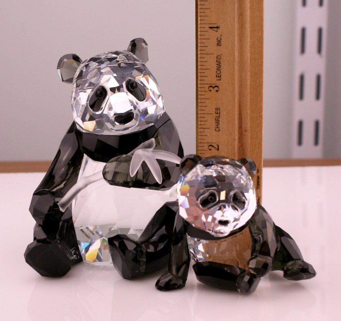 Two Swarovski Wildlife Panda Figurines - 2