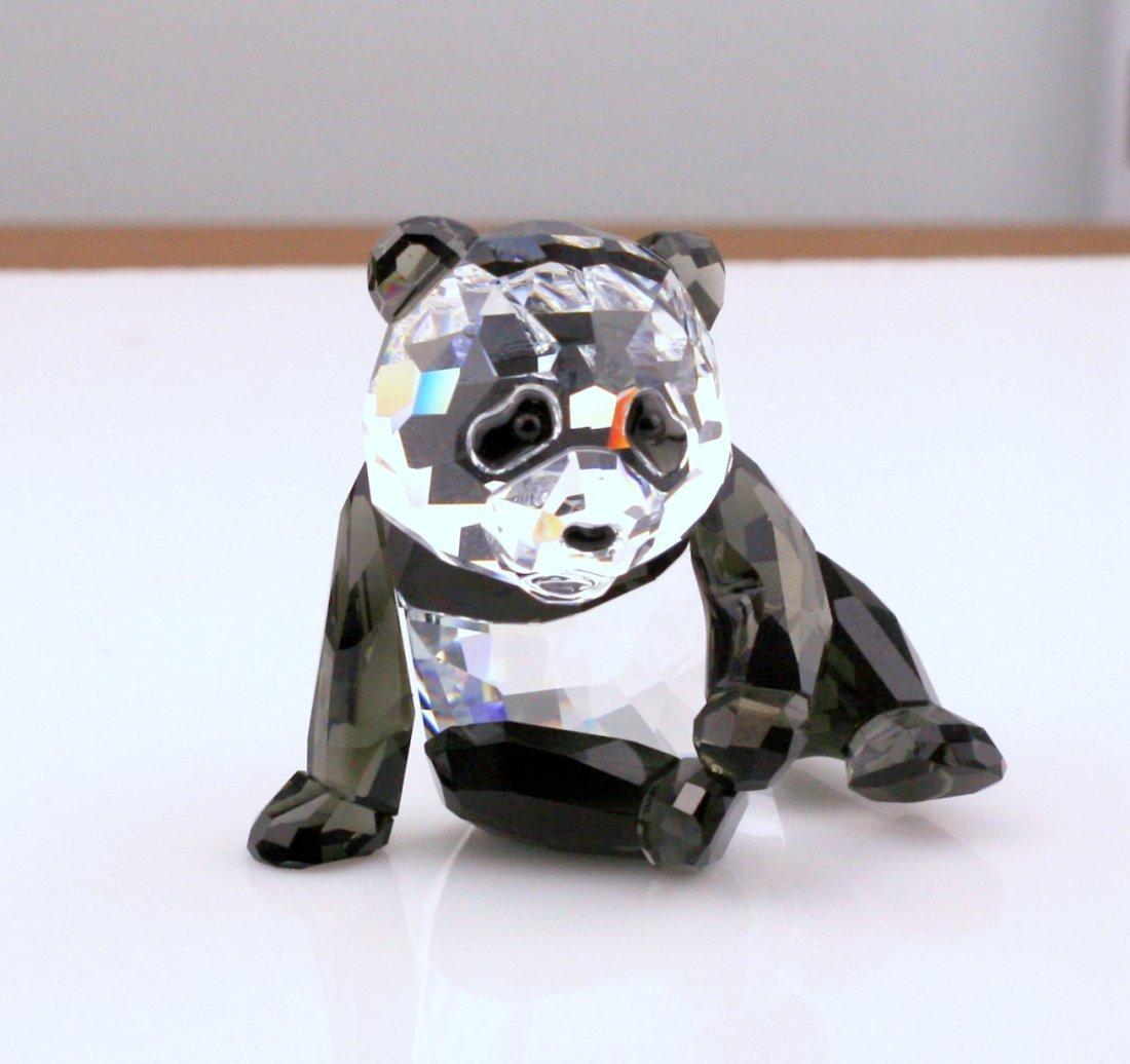 Two Swarovski Wildlife Panda Figurines - 3