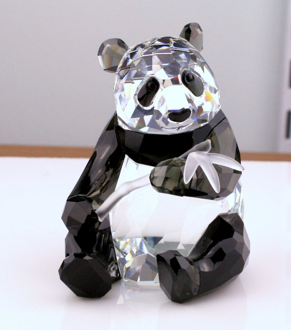 Two Swarovski Wildlife Panda Figurines - 5