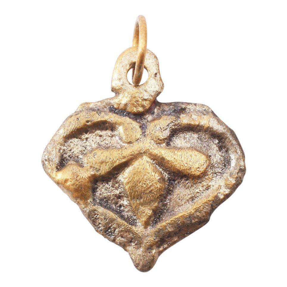 Viking Gilt Heart Pendant 10-11th C