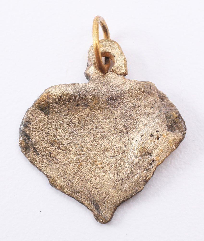 Viking Gilt Heart Pendant 10-11th C - 2