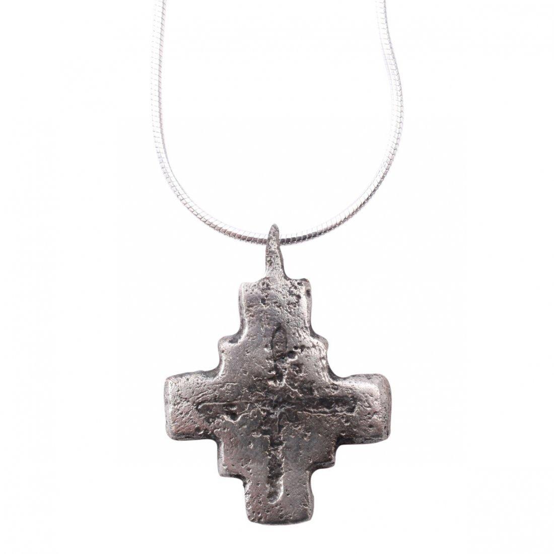 Byzantine Pilgrim's Reliquary Cross 6-9th C