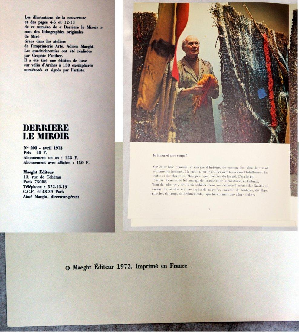 Joan Miró: Derrière le Miroir #203 Lithographs, 1973 - 6