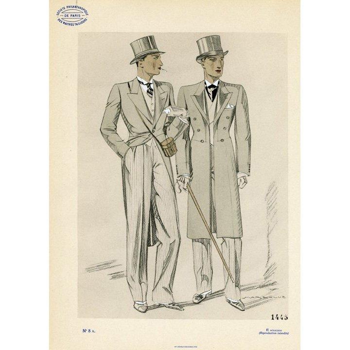 Marc-Luc: Men's Fashion Plate. No. 8 A, 1933