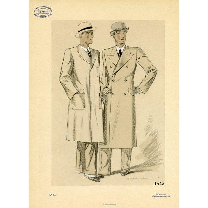 Marc-Luc: Men's Fashion Plate. No. 6 A, 1933