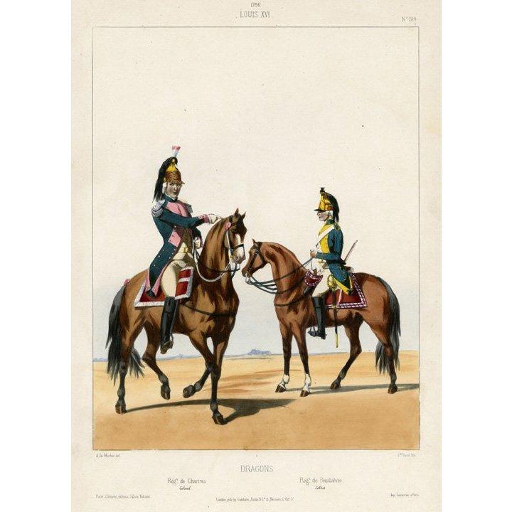 Alfred de Marbot: Louis XVI. Dragons. Regt. Chart, 1830