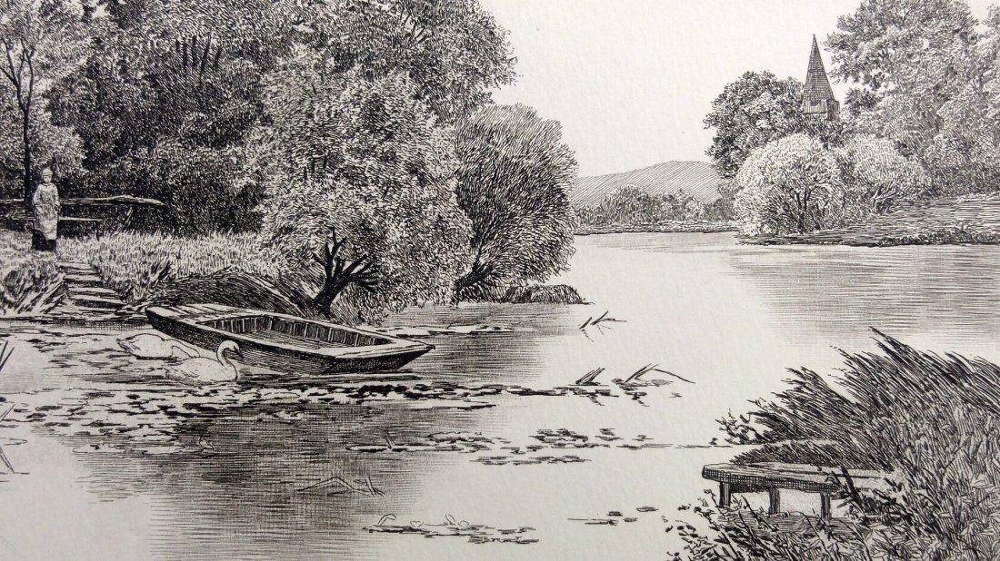 I. Blis: Swan Lake Etching - Signed, 1930 - 2