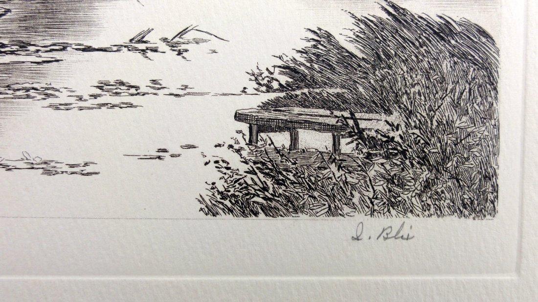 I. Blis: Swan Lake Etching - Signed, 1930 - 5