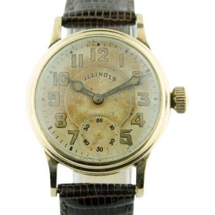 Illinois Men's Early Enamel Wristwatch
