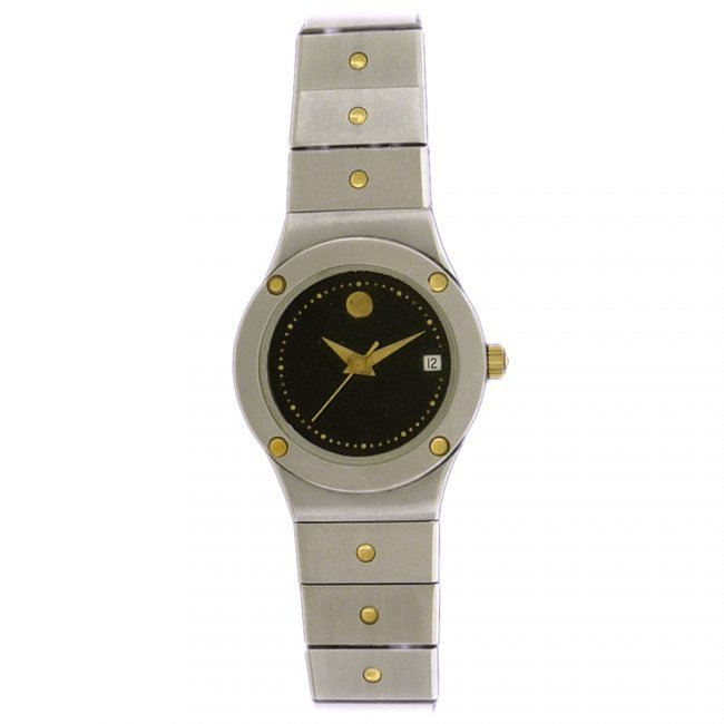 Movado Ladies Museum Date Stainless Steel Watch - 2