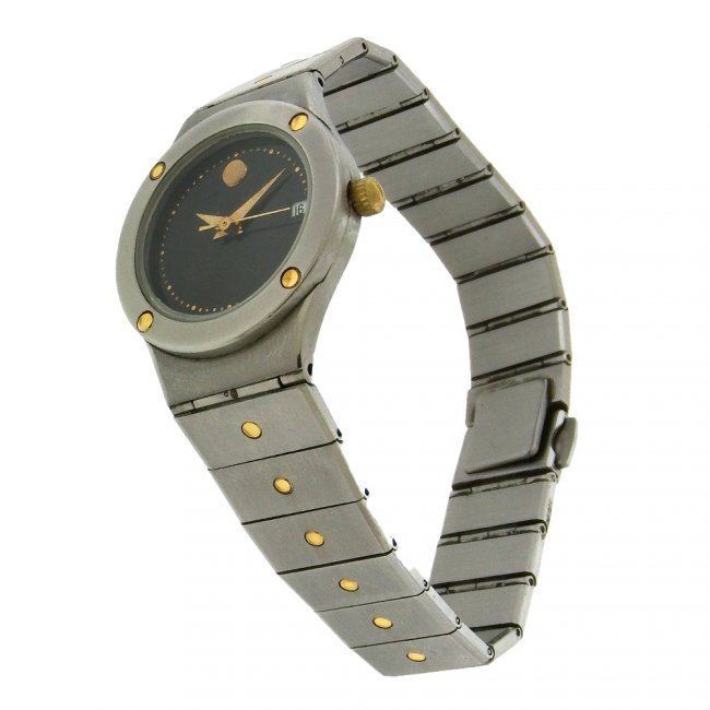 Movado Ladies Museum Date Stainless Steel Watch - 4