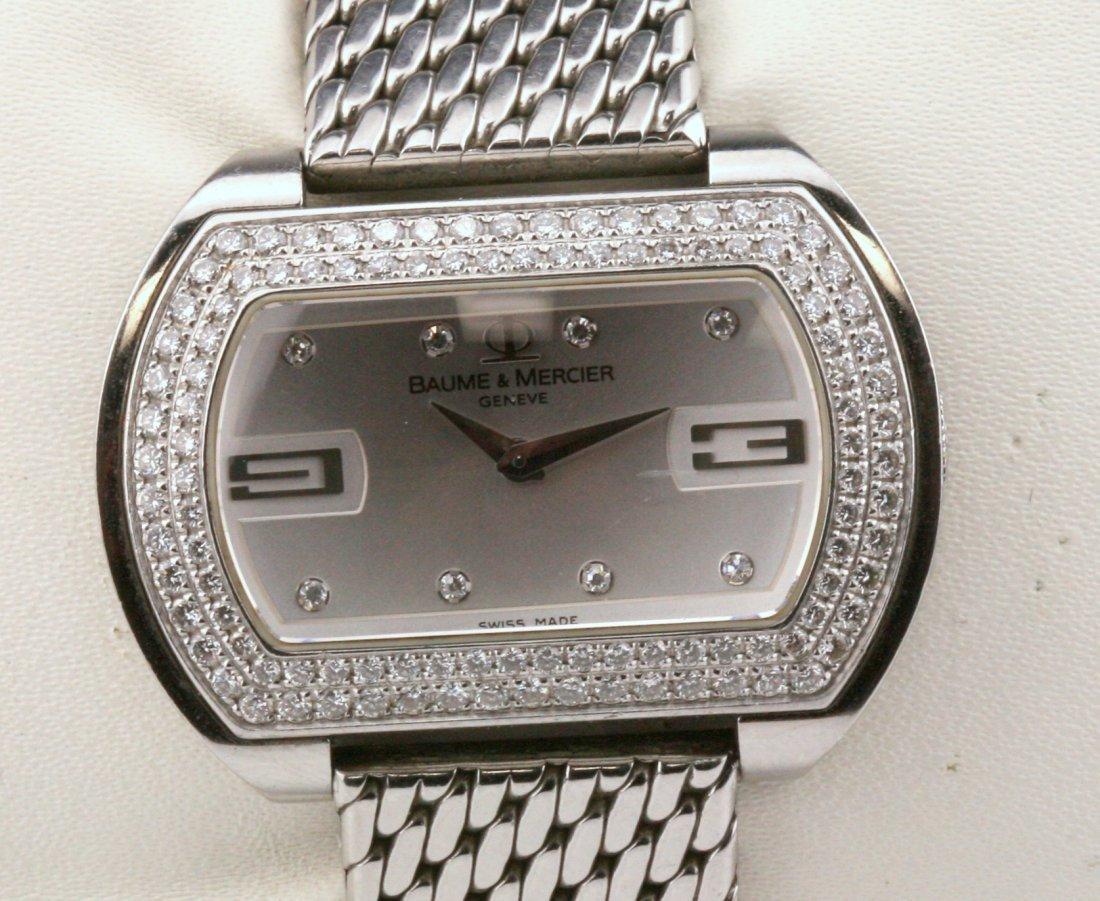 Baume-Mercier Ladies Diamond Stainless Steel Watch - 2