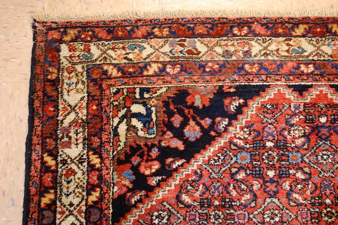 Antique Persian Malayer Rug 4.10x6.4 - 10