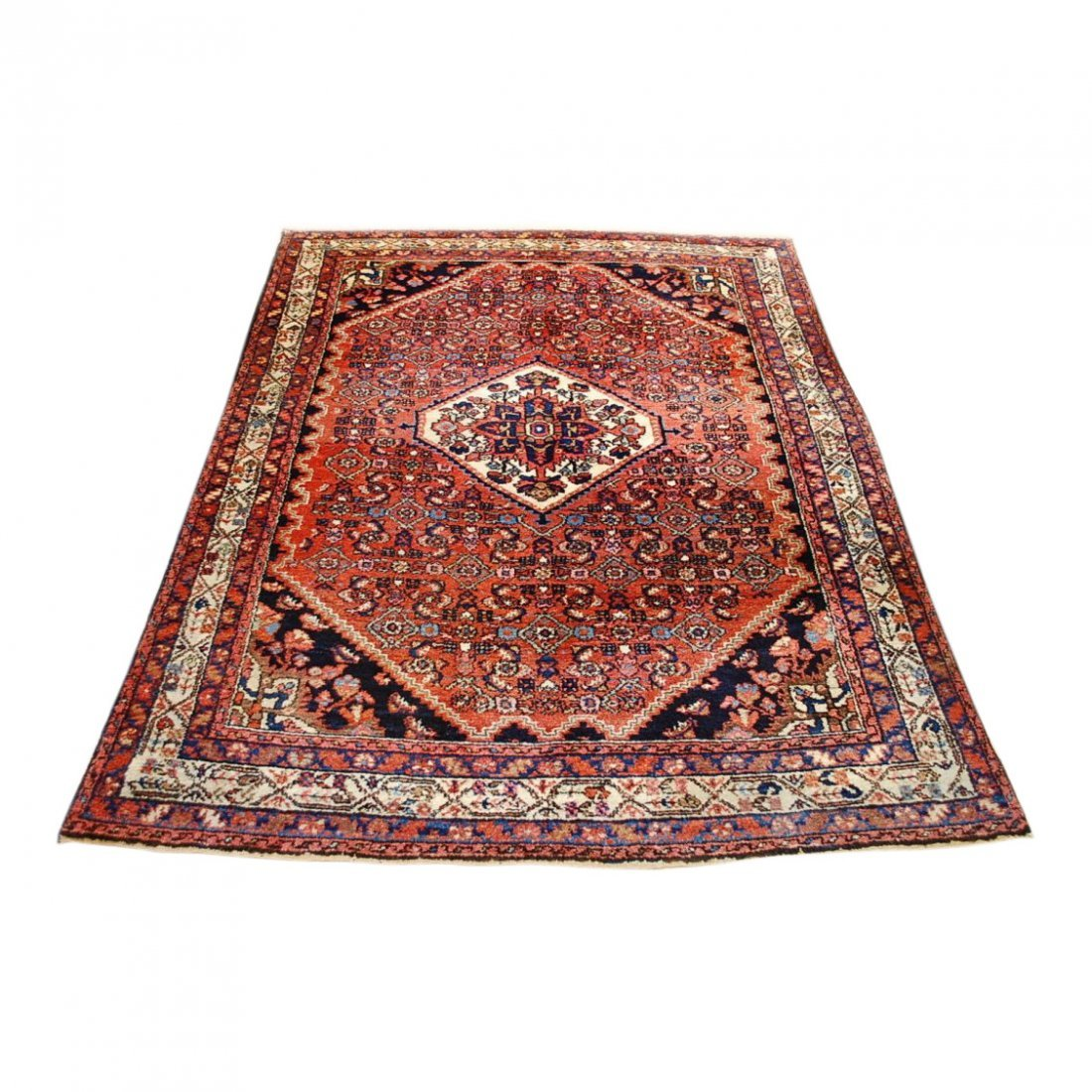 Antique Persian Malayer Rug 4.10x6.4