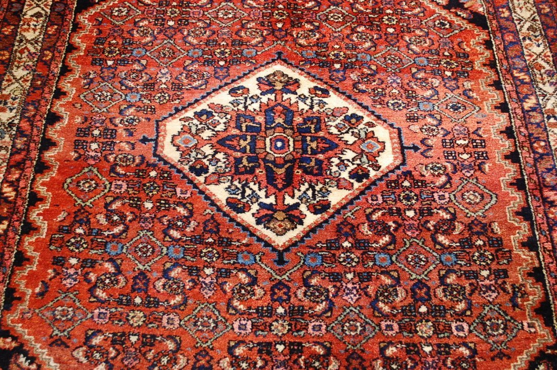Antique Persian Malayer Rug 4.10x6.4 - 2
