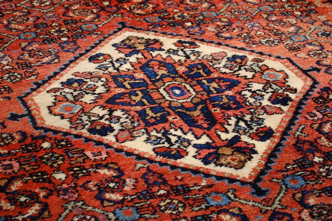 Antique Persian Malayer Rug 4.10x6.4 - 7