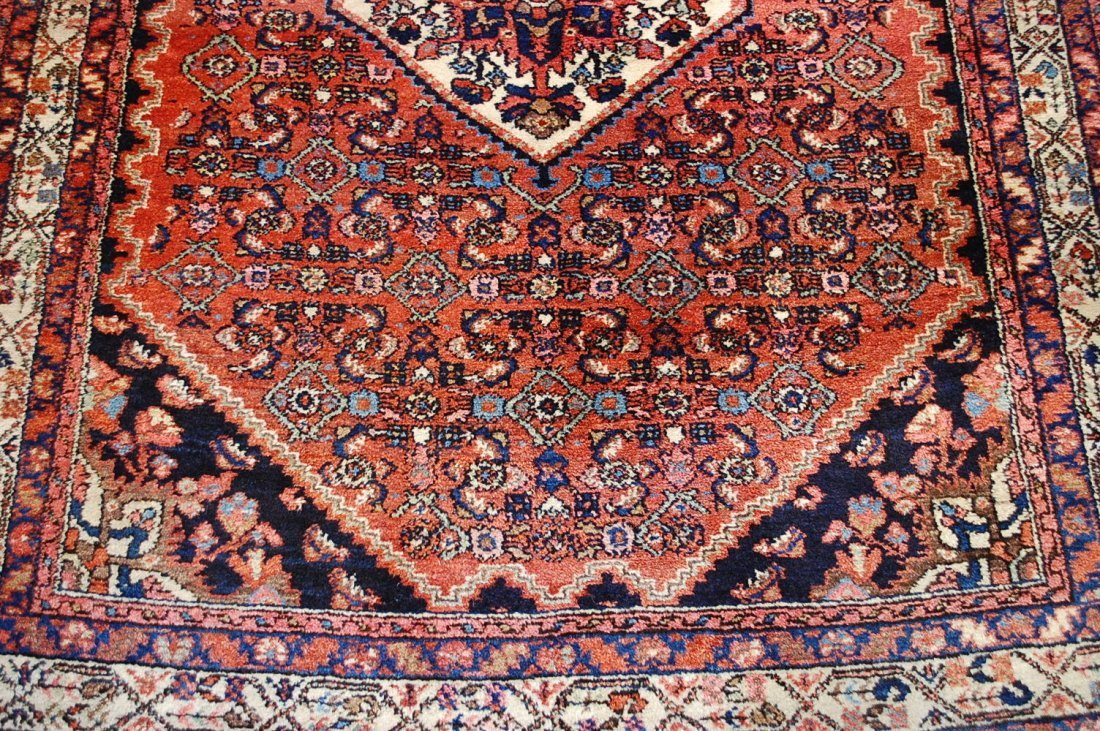 Antique Persian Malayer Rug 4.10x6.4 - 8