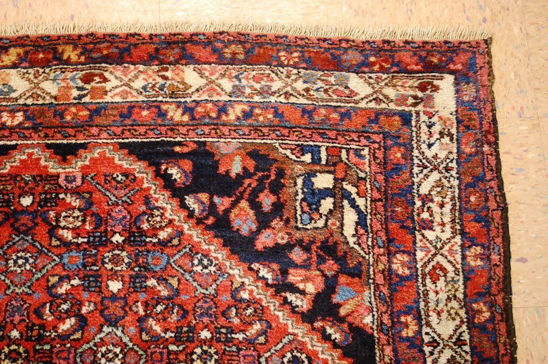 Antique Persian Malayer Rug 4.10x6.4 - 9