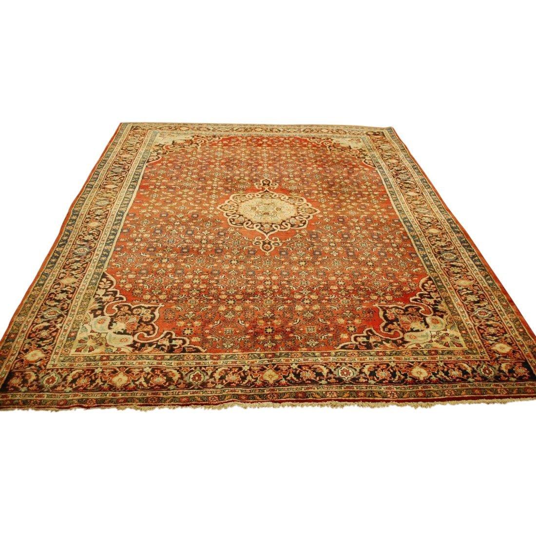 Antique Persian Bijar Rug 7.1x9.5