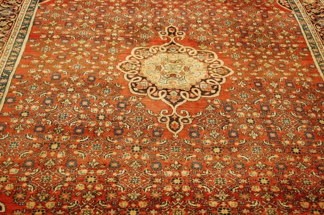 Antique Persian Bijar Rug 7.1x9.5 - 2