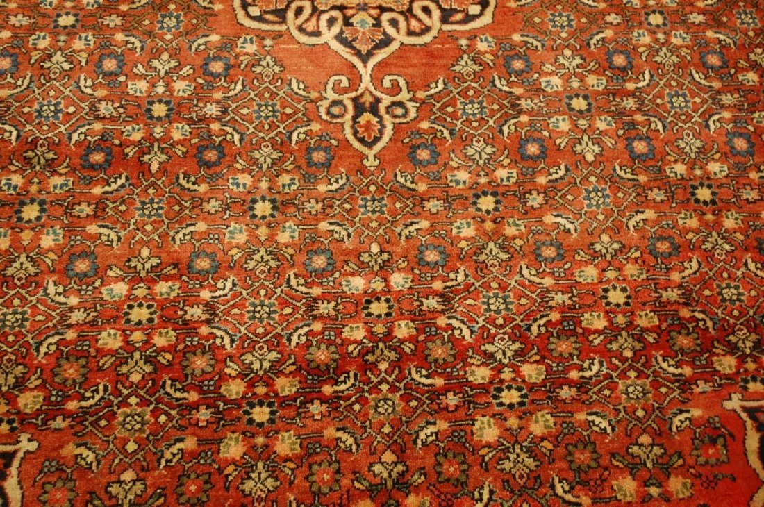 Antique Persian Bijar Rug 7.1x9.5 - 6