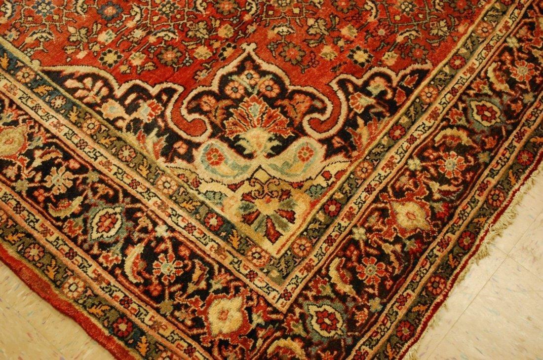 Antique Persian Bijar Rug 7.1x9.5 - 7