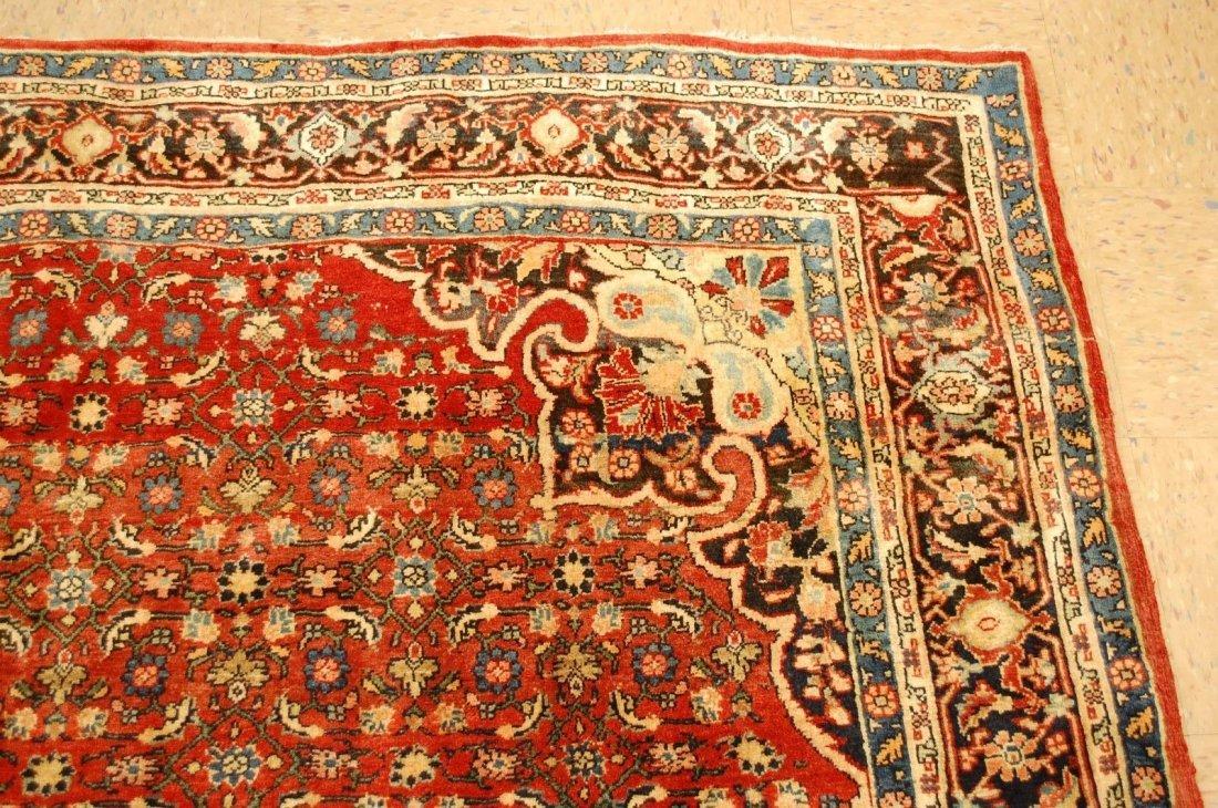 Antique Persian Bijar Rug 7.1x9.5 - 9