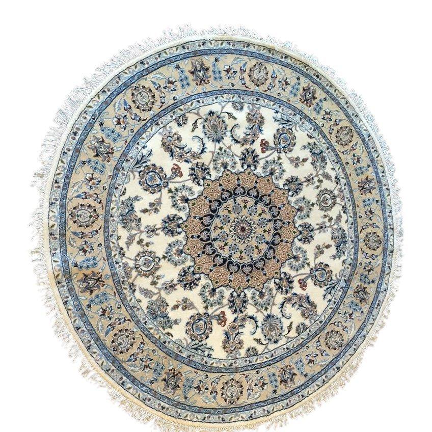 Handmade Persian Nain Rug 6x6