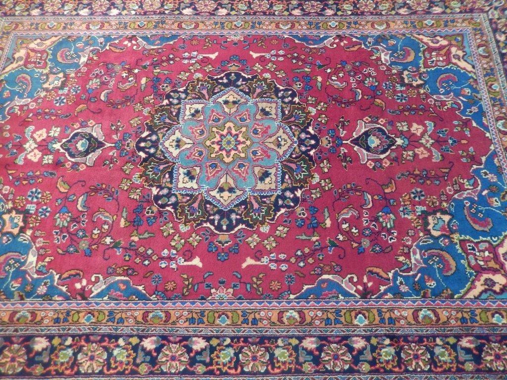 Persian Mashad Rug 6.5x9.7 - 4