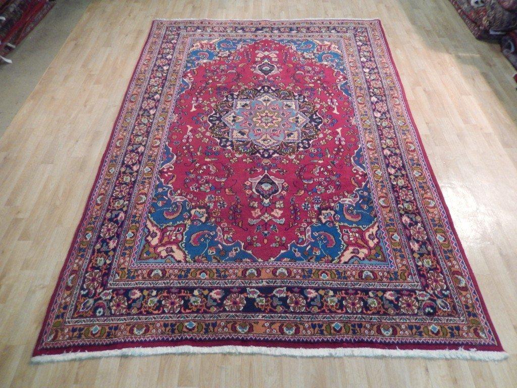 Persian Mashad Rug 6.5x9.7 - 5