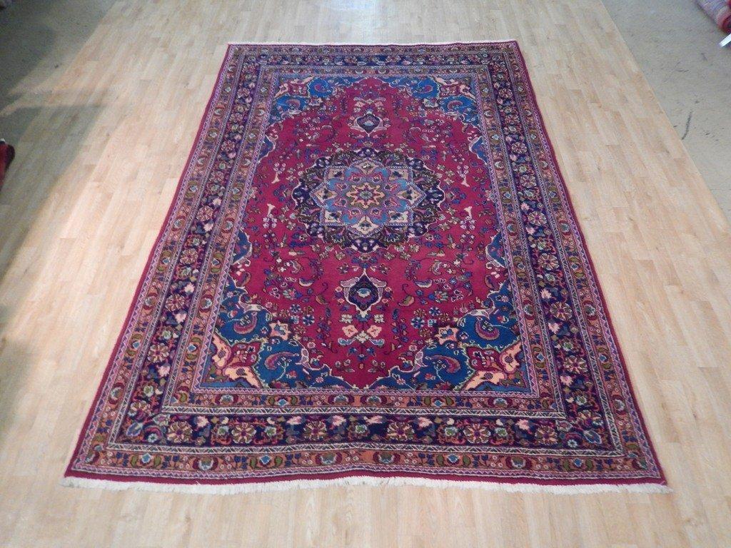 Persian Mashad Rug 6.5x9.7 - 6