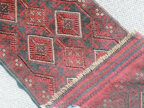 Handmade Semi-Antique Persian Balouch Runner 1.10x5.8 - 2