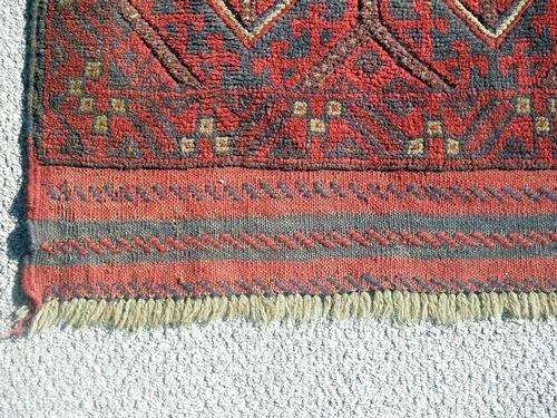 Handmade Semi-Antique Persian Balouch Runner 1.10x5.8 - 3