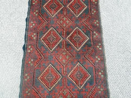 Handmade Semi-Antique Persian Balouch Runner 1.10x5.8 - 4