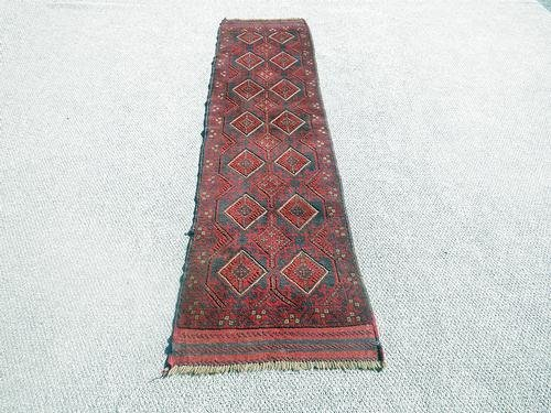 Handmade Semi-Antique Persian Balouch Runner 1.10x5.8 - 5