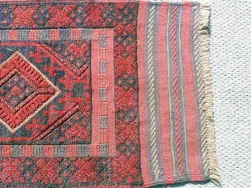 Handmade Semi-Antique Persian Balouch Runner 1.10x7.8 - 3