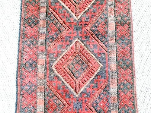 Handmade Semi-Antique Persian Balouch Runner 1.10x7.8 - 4