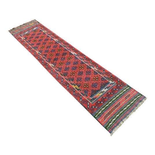 Handmade Semi-Antique Persian Balouch Runner 1.1x7.9