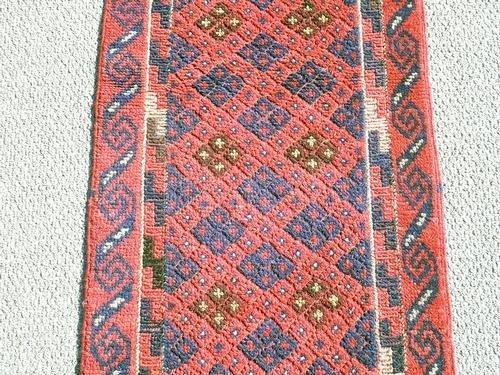 Handmade Semi-Antique Persian Balouch Runner 1.1x7.9 - 4