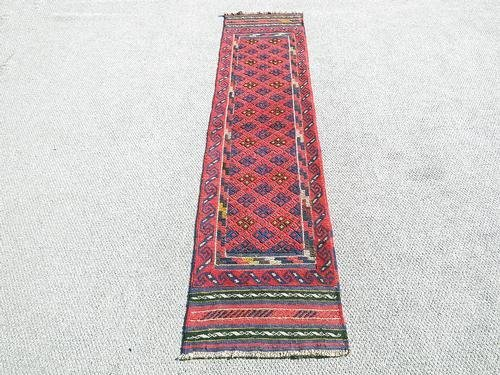 Handmade Semi-Antique Persian Balouch Runner 1.1x7.9 - 5