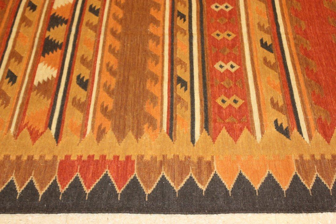 Handmade Flat Weave Kilim Rug 5.6x8 - 3
