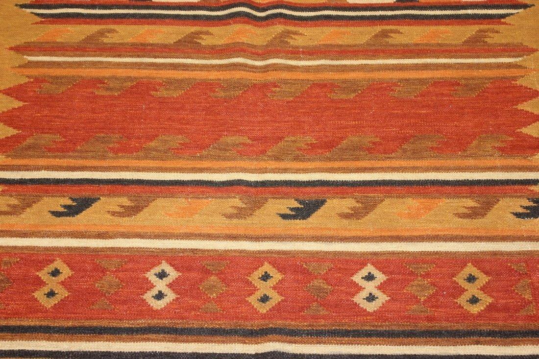 Handmade Flat Weave Kilim Rug 5.6x8 - 4