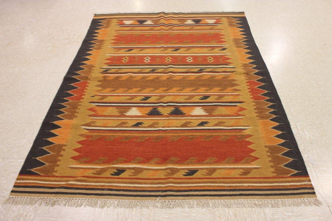 Handmade Flat Weave Kilim Rug 5.6x8 - 6