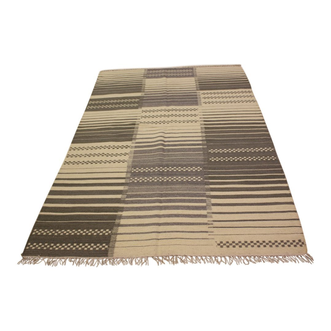 Handmade Flat Weave Kilim Area Rug 5.3x7