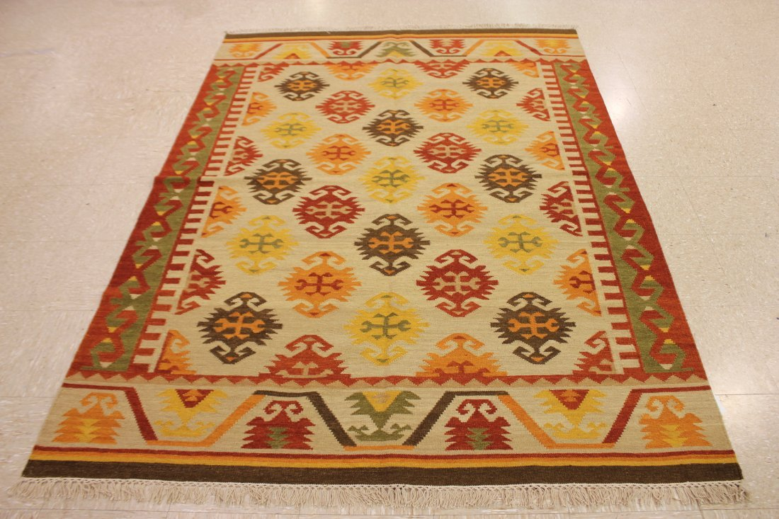 Shirvan Flatweave Handmade Kilim Rug 5.3x7.7 - 6