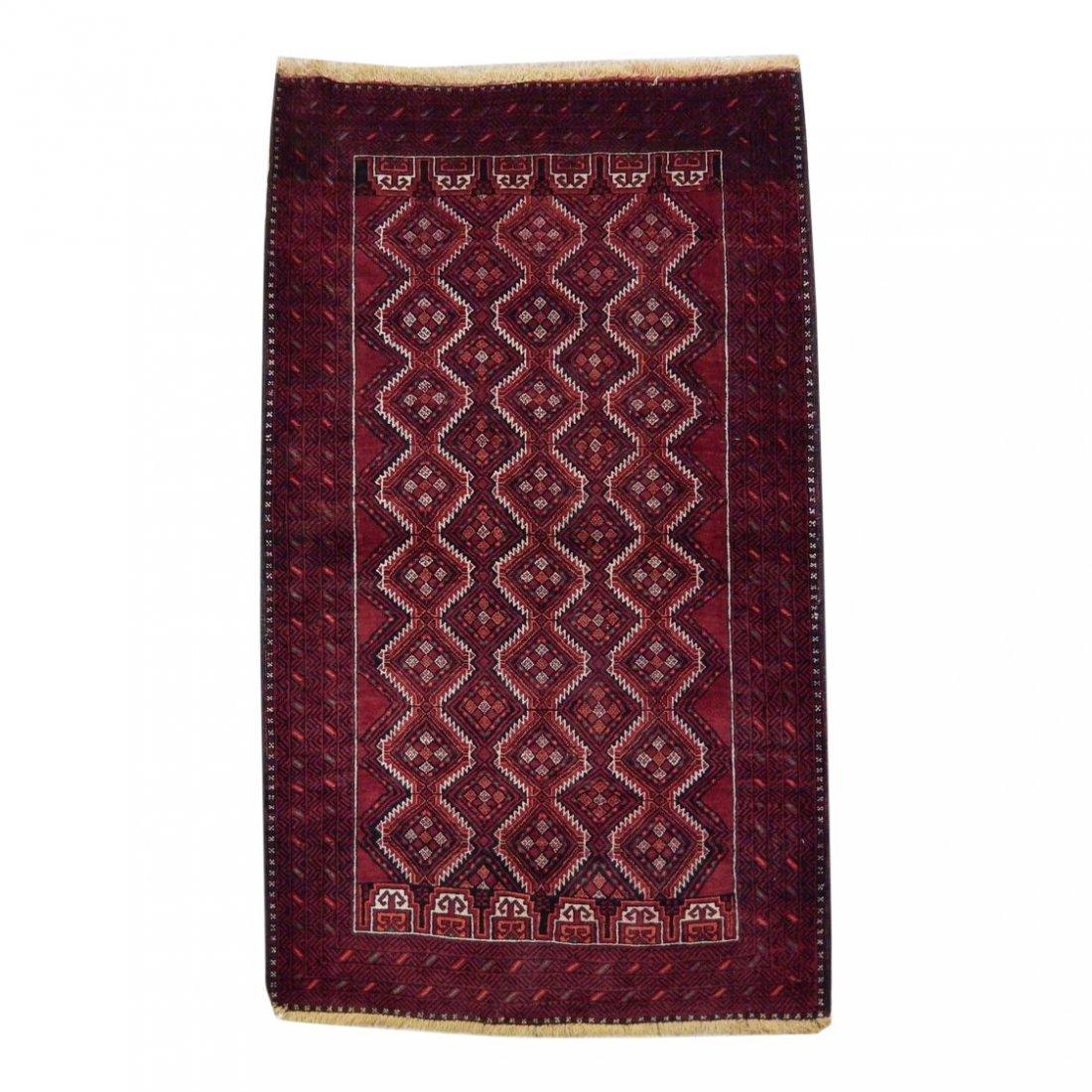 Persian Baluch Tribal Rug 3.10x6.4