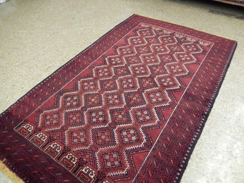 Persian Baluch Tribal Rug 3.10x6.4 - 4