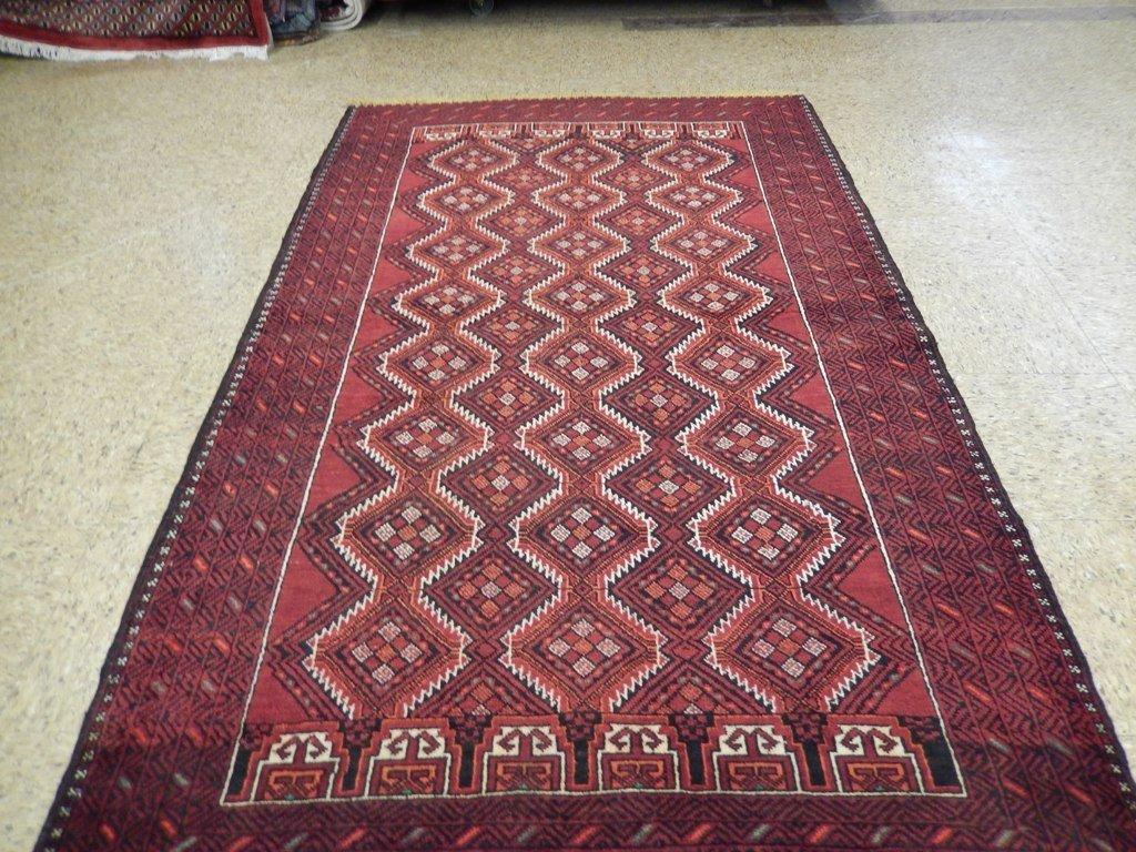 Persian Baluch Tribal Rug 3.10x6.4 - 5