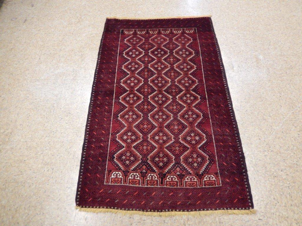 Persian Baluch Tribal Rug 3.10x6.4 - 6